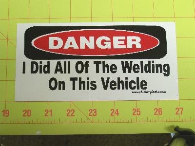 Details About All The Welding Sticker Funny Welder Bumper